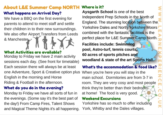 Summer Camp Yorkshire
