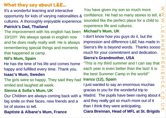 School Travel Testimonials