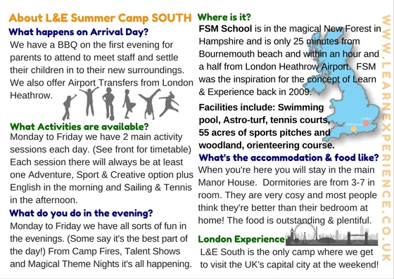 Summer Camp South